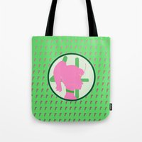sailor jupiter Tote Bags featuring Sailor Jupiter by Valerie C. Salmon