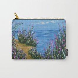 One Path, Ocean Seascape, Modern Impressionism, Beach Art Carry-All Pouch