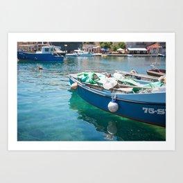 Brac, Croatia Boat Art Print