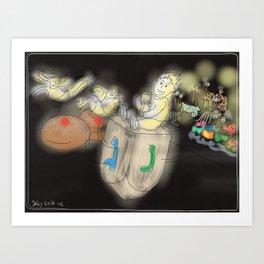 Hanukkah Fun Art Print