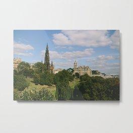Beautiful Sunny Day in Edinburgh, Scotland Metal Print