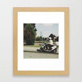 Scooting Along Framed Art Print