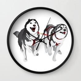 THE HUSKIES Wall Clock