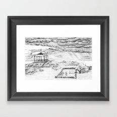 Star Island Sketch Framed Art Print