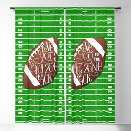 Love You to the End Zone and Back Football Design Blackout Curtain