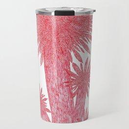 Quatre flors vermelles circulars amb puntes Travel Mug