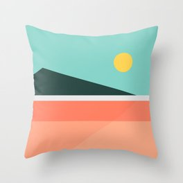 Geometric Landscape 15 Throw Pillow