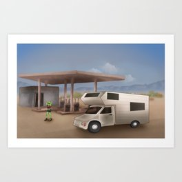 Alien Desert Road Trip Art Print