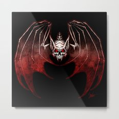 Thee Vampire Guild Bat Icon Metal Print