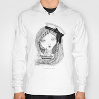ships Hoodies featuring Loose Lips Sink Ships by Kirbee Lawler