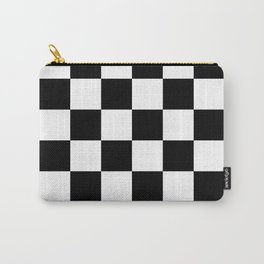 Black and white Checkered Carry-All Pouch