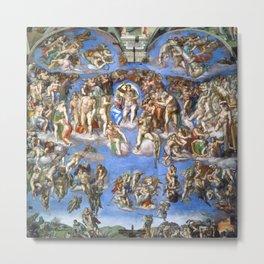 """Michelangelo """"The Last Judgment"""" Metal Print"""