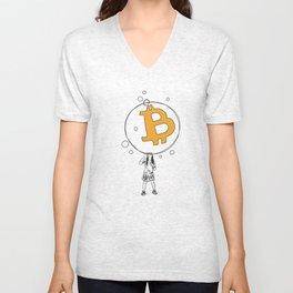 Bitcoin Bubble Unisex V-Neck