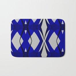 Blue Abstract Bath Mat