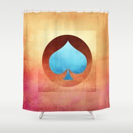 Ace of Spades III Shower Curtain