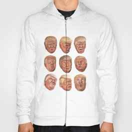 Faces Of Donald Trump Hoody