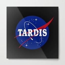 Tardis NASA Parody Metal Print