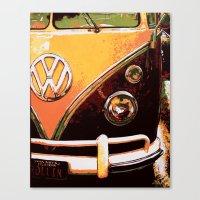 volkswagon Canvas Prints featuring Volkswagon Van by Alexandra Kube