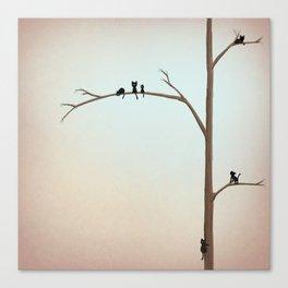 Tree Kitties Canvas Print