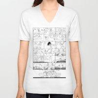 dramatical murder V-neck T-shirts featuring Dramatical Murder - AGONY by Lalasosu2