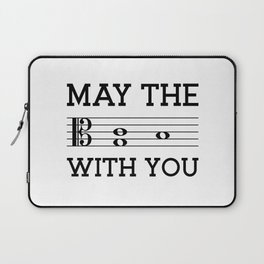 May the 4th be with you (light colors/alto clef) Laptop Sleeve