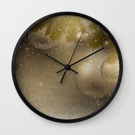 Gold ornaments Wall Clock