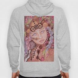 Steam punk woman watercolor themed art Hoody