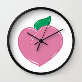 Our Peaches are Delicious Wall Clock