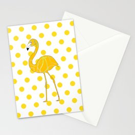 Yellow Flamingo  - Bird Stationery Cards