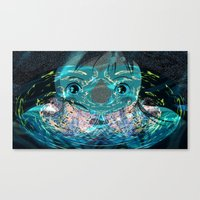 chihiro Canvas Prints featuring Chihiro Visions by Andrey Lyle