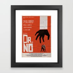 Orange Dr No Framed Art Print