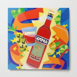 Vintage Cordial Campari Limited Edition Advertisement Poster #2 of 8 originally limited to 70 by Ugo Metal Print