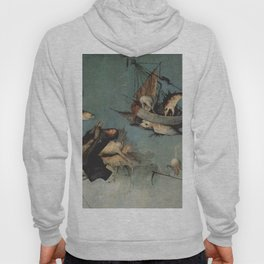 Hieronymus Bosch flying ships and creatures Hoody