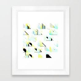 black&neon / triangle Framed Art Print
