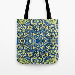 Blue Yellow original Art Tote Bag