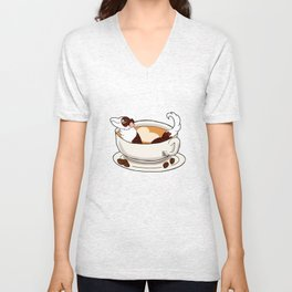 Furbags For Coffee Lovers Unisex V-Neck