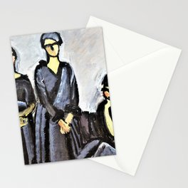 12,000pixel-500dpi - Harald Giersing - Three ladies in black - Digital Remastered Edition Stationery Cards