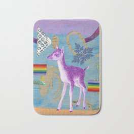 rainbow deer 2 Bath Mat