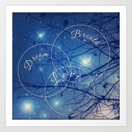 Meditative circles  Art Print