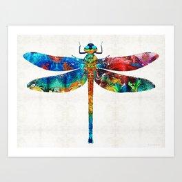 Colorful Dragonfly Art By Sharon Cummings Kunstdrucke