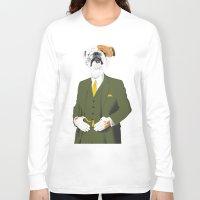 english bulldog Long Sleeve T-shirts featuring English Bulldog by drawgood