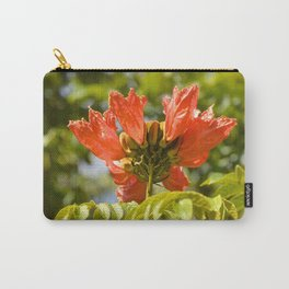 """""""Flaming-red Peacock (i)"""" by ICA PAVON Carry-All Pouch"""
