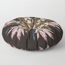 Flemish Floral Mandala Floor Pillow