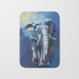 Elephant Dream - Colorful wild animal digital painting Bath Mat