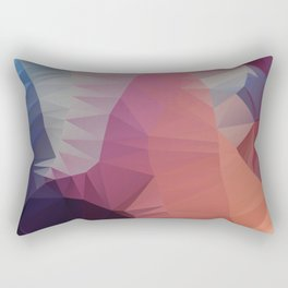 Flower / Poster, scandinavian, art, art print, geometric, pastel, friends, love, summer, Christmas Rectangular Pillow