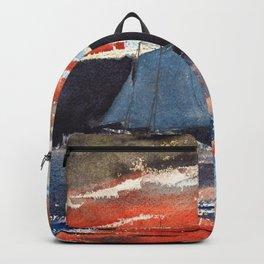 Winslow Homer1 - Schooner At Sunset - Digital Remastered Edition Backpack