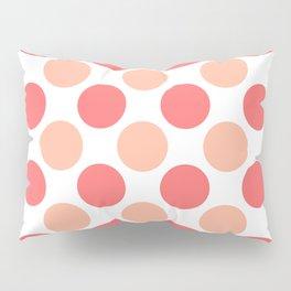 Coral polka dots Pillow Sham