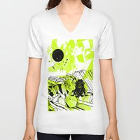 depression V-neck T-shirts featuring Depression on a Lonely Planet by MAKE ME SOME ART