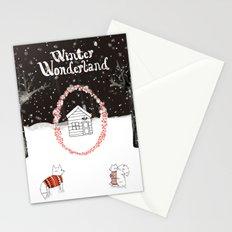Winter Wonderland Holiday card/illustration Stationery Cards