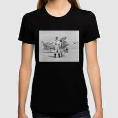 X-24A on Lakebed MEDIUM Womens Fitted Tee Black